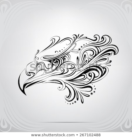 Stock photo: Bird Celtic icon