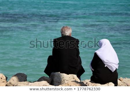 Turco casal mar jovem feliz praia Foto stock © lubavnel
