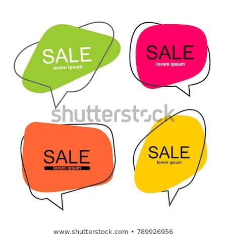 оранжевый речи пузырь икона вектора дизайна изолированный Сток-фото © kyryloff