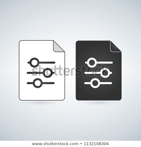 Documento archivo vector icono signo Foto stock © kyryloff