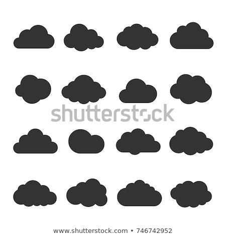 Preto e branco nuvem arquivo ícone isolado branco Foto stock © kyryloff