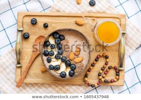 Stock fotó: Blackberry Smoothie With Granola