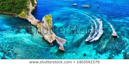 Luxe schip cruise bali eiland luchtfoto Stockfoto © joyr
