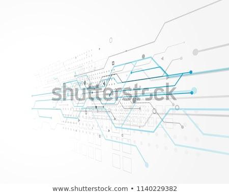 Soyut teknoloji dizayn tel bilgisayar Stok fotoğraf © SArts