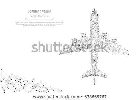 üzlet légi közlekedés globális repülőgépek Föld világ Stock fotó © alexaldo