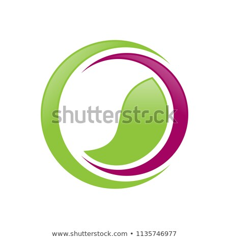 Groene evenwicht wellness halve maan symbool ontwerp Stockfoto © smith1979