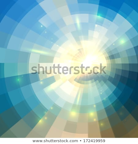 Abstract concentrisch mozaiek vector poster Stockfoto © fresh_5265954