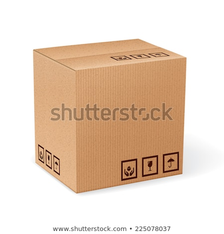 Carton livraison emballage boîte fragile signes Photo stock © tashatuvango
