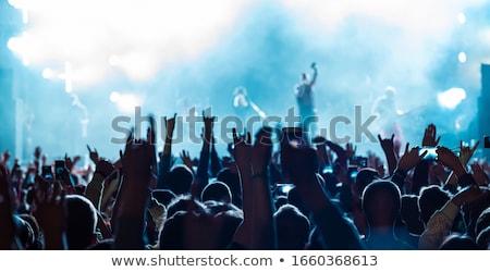 Stockfoto: Smartphone · schieten · festival · concert · wazig · muziek