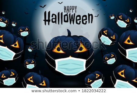 Grim reaper in the moonlight night with pumpkin and Halloween Stock photo © Ustofre9