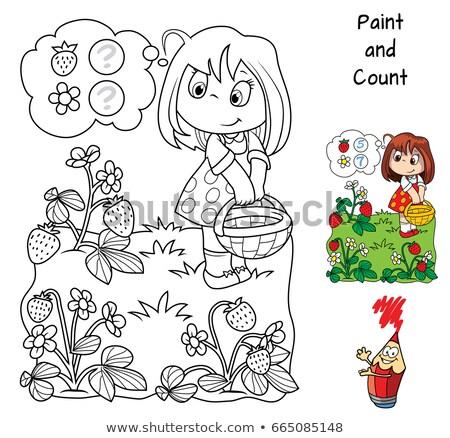 calculation educational game for kids color book stock photo © izakowski