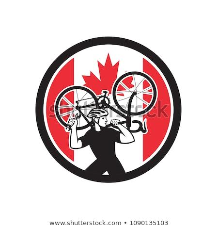 Canadian Bike Mechanic Canada Flag Icon Stock photo © patrimonio