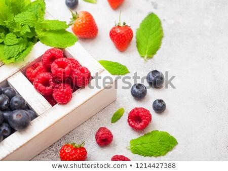 bogyók · izolált · fehér · asztal · felső · kilátás - stock fotó © denismart