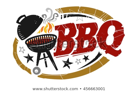 Stockfoto: Hot · bbq · barbecue · partij · poster · vector