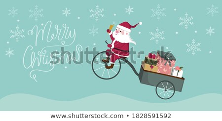 Christmas card with flat wishes and multicolored holiday gifts Stock photo © ussr
