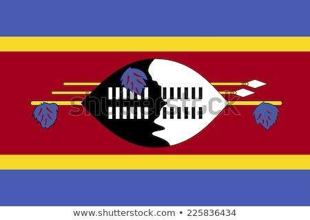 Swaziland vlag witte achtergrond afrika lint Stockfoto © butenkow