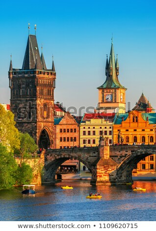Prague and River Vltava Stock photo © Givaga