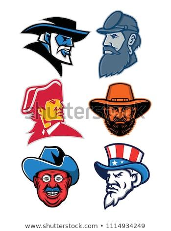 American Revolution General Mascot Stock photo © patrimonio