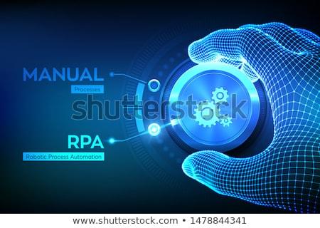 Stockfoto: Business · procede · automatisering · analist · werken · laptop