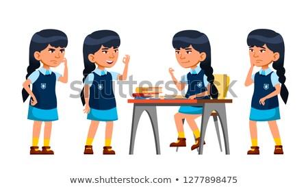アジア 少女 ベクトル 小学校 子 十代の ストックフォト © pikepicture