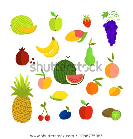 Melon and Banana Watermelon Posters Set Vector Stock photo © robuart