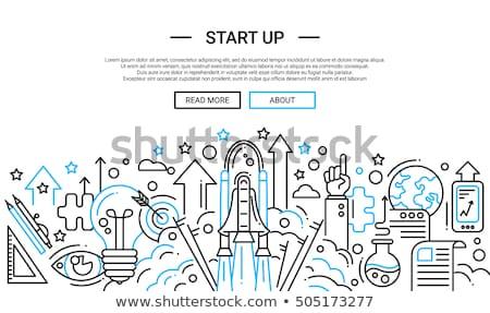 Start up launch concept banner header. Stock photo © RAStudio