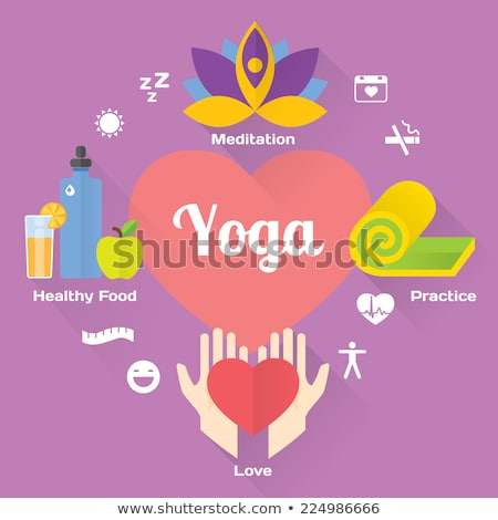 Stockfoto: Yoga · fitness · meditatie · ontwerp · geïsoleerd