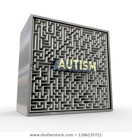 3D головоломки лабиринт лабиринт окна аутизм Сток-фото © nasirkhan