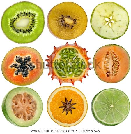 Muitos fresco abacate frutas árvore Foto stock © LianeM