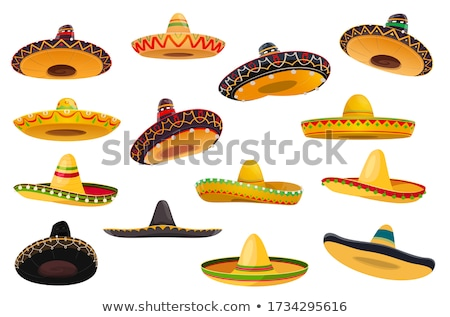 Sombrero mexican straw hat for cinco de mayo holiday Stock photo © orensila