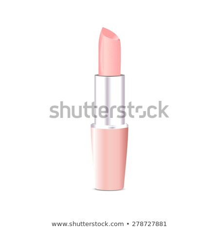 Colorful light pink lipstick, cosmetics vector illustration stock photo © bonnie_cocos