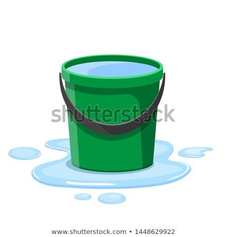Vödör tele víz illusztráció háttér művészet Stock fotó © colematt