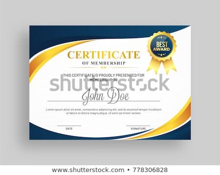professionele · Blauw · certificaat · waardering · sjabloon · achtergrond - stockfoto © sarts