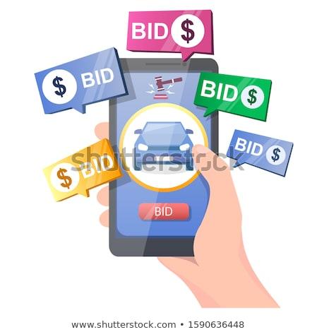 Stock foto: Verkauf · Auktion · Auto · halten · Hammer · Hand