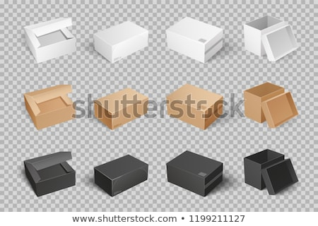 Boxes with Adhesive Tape Rectangular Square Items Stock photo © robuart