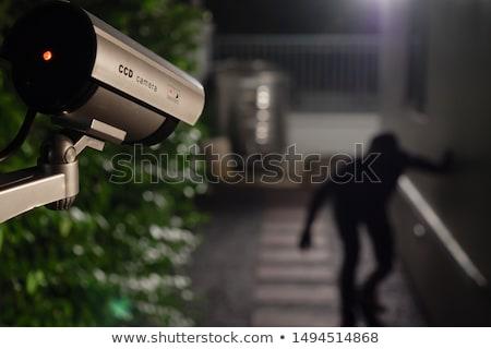 Surveillance Camera At Night Stock photo © albund