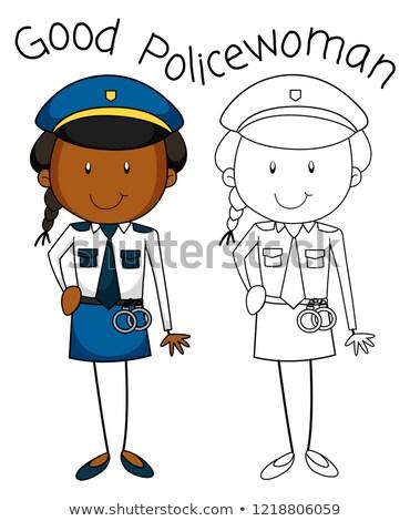良い · 警官 · 警察 · ポップアート · レトロスタイル · 男 - ストックフォト © colematt