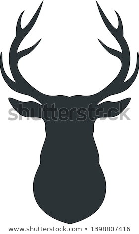 Deer Animal with Horns Isolated Icon Silhouette Stock fotó © robuart