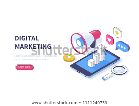 Online Shopping Concept. Vector Isometric Concept of Marketing or Digital Marketing. Stockfoto © tashatuvango