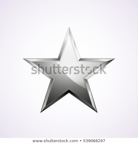 Brillante plata cromo estrellas hermosa simétrico Foto stock © jeff_hobrath