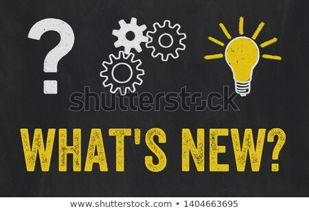 Question Mark, Gears, Light Bulb Concept - Whats new Stock photo © Zerbor