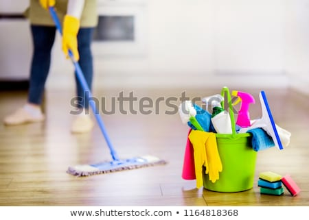 Cleaning Products And Tools On Floor Stock photo © AndreyPopov