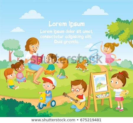 遊び場 · セット · ベクトル · 子供 · 子供演奏 - ストックフォト © bluering