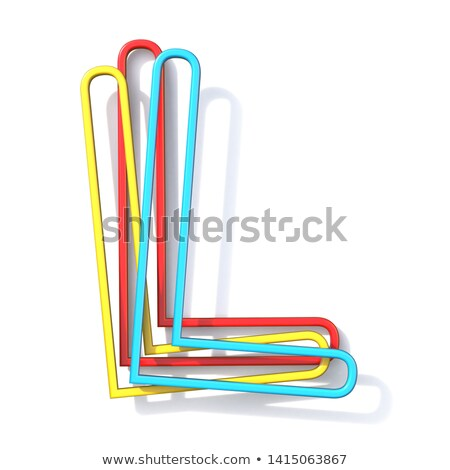 three basic color wire font letter l 3d stock photo © djmilic
