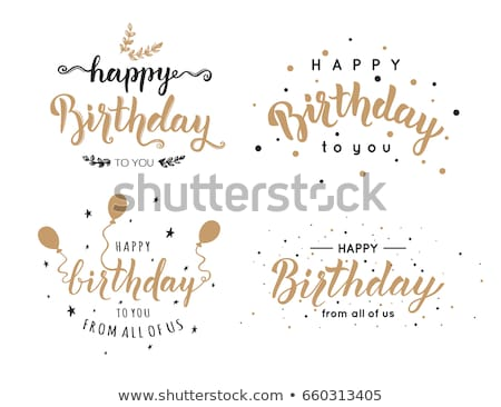 Happy birthday symbols set Stock photo © jossdiim