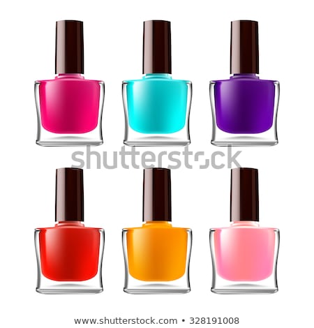 vial of orange nail polish female cosmetic vector stock photo © pikepicture