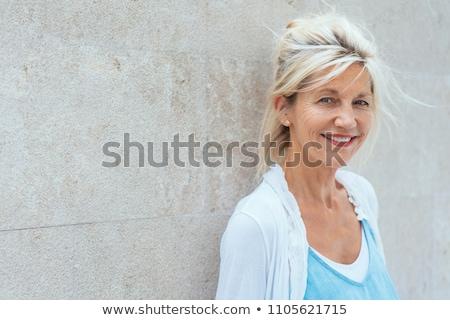 優しい 魅力的な ブロンド 女性 壁 ストックフォト © Giulio_Fornasar