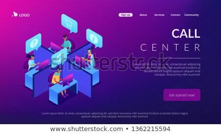 Centro de llamadas aplicación interfaz plantilla servicio al cliente computadoras Foto stock © RAStudio