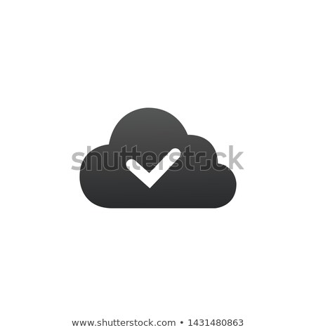 check mark on cloud icon vector isolated on white background graphic design material design best stock photo © kyryloff