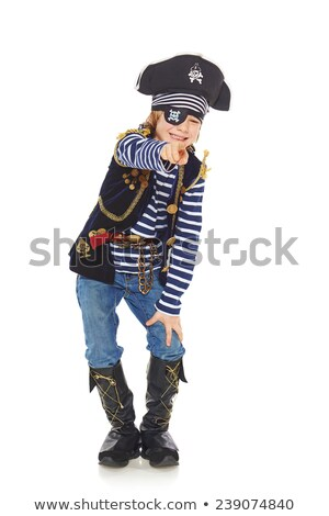 pirata · costume · felice · indossare - foto d'archivio © grafvision